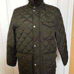 Military Green Quilted Jacket